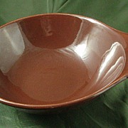 Russel Wright American Modern Bean Brown Lugged Soup Bowls