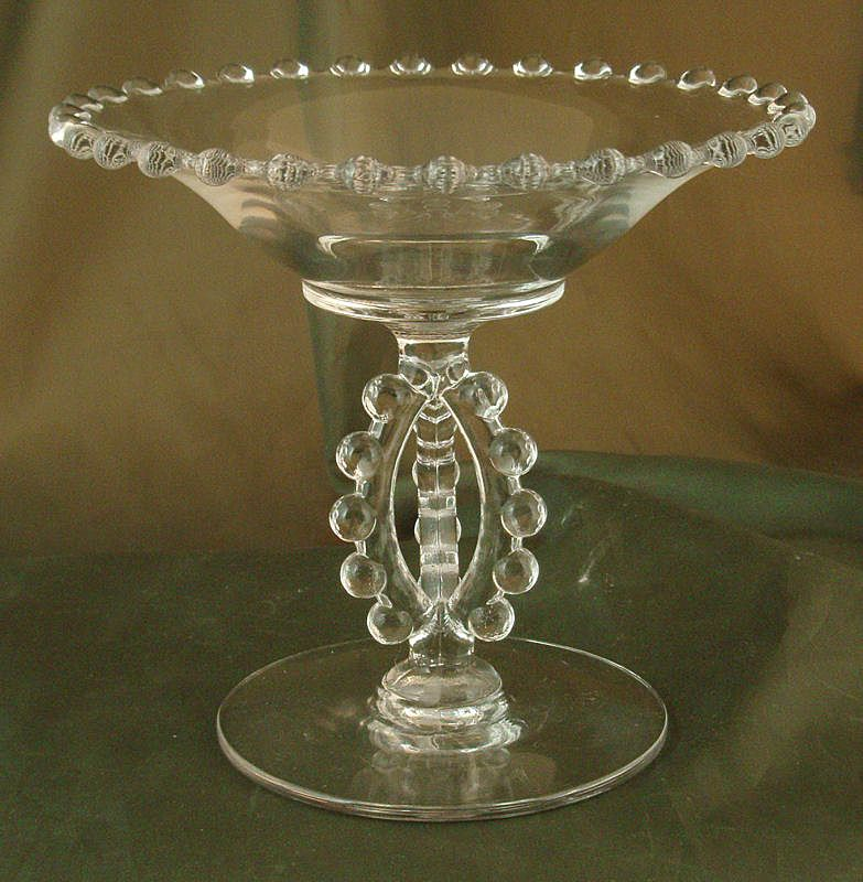 Imperial Candlewick Open Tri-Stem Compote