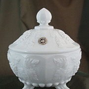 Westmoreland Paneled Grape Three-Toed Candy Dish