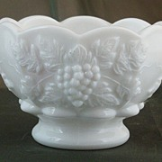 Westmoreland Paneled Grape Milk Glass Fruit Cocktail