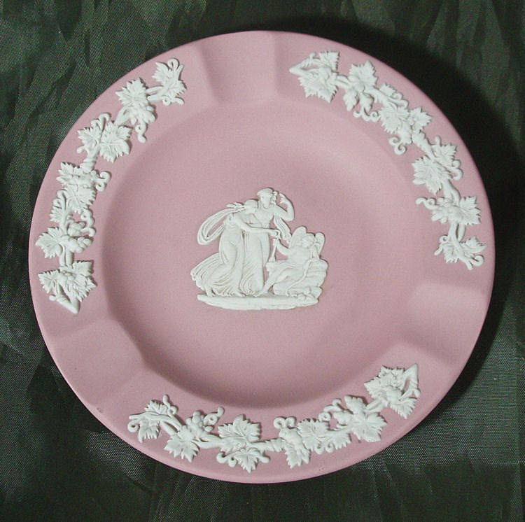Wedgwood Pink Jasper Ware Ashtray