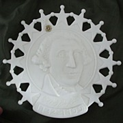Westmoreland Milk Glass George Washington Plate