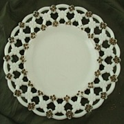 Westmoreland Milk Glass Plate with Forget Me Not Border