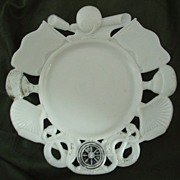 Westmoreland Nautical Theme Milk Glass Plate