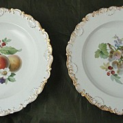 Nineteenth Century Meissen Fruit Plates - Set of Six