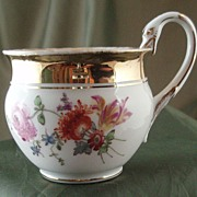 Meissen Floral-Decorated Coffee Cup with Swan Handle