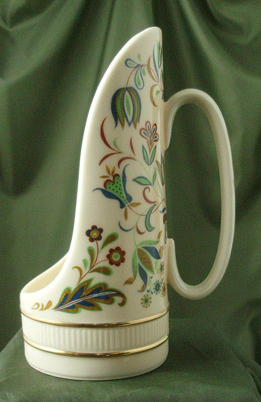 Lenox China Handled Candle Lamp - Pennsylvania Dutch Decoration