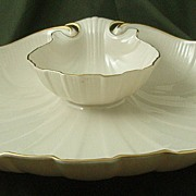 Lenox China Shell-Form Chip & Dip Bowl
