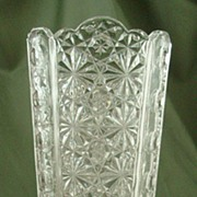 Adams Daisy and Button with Thumbprint Panel Celery Vase