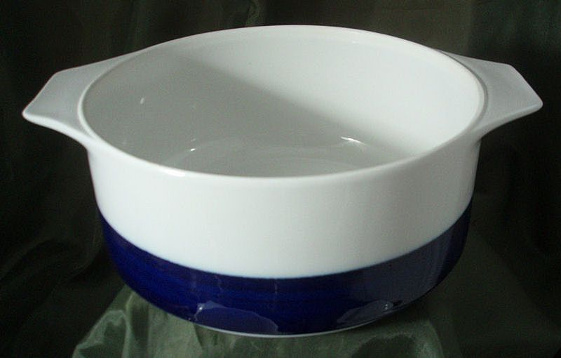 Thomas China Brushed Cobalt Short Open Casserole