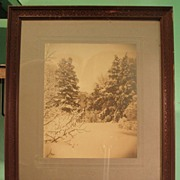 Early 20th Century Albumen Print - Snow Scene