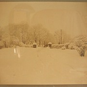 Early 20th Century Albumen Print - Early Automobile in the Snow