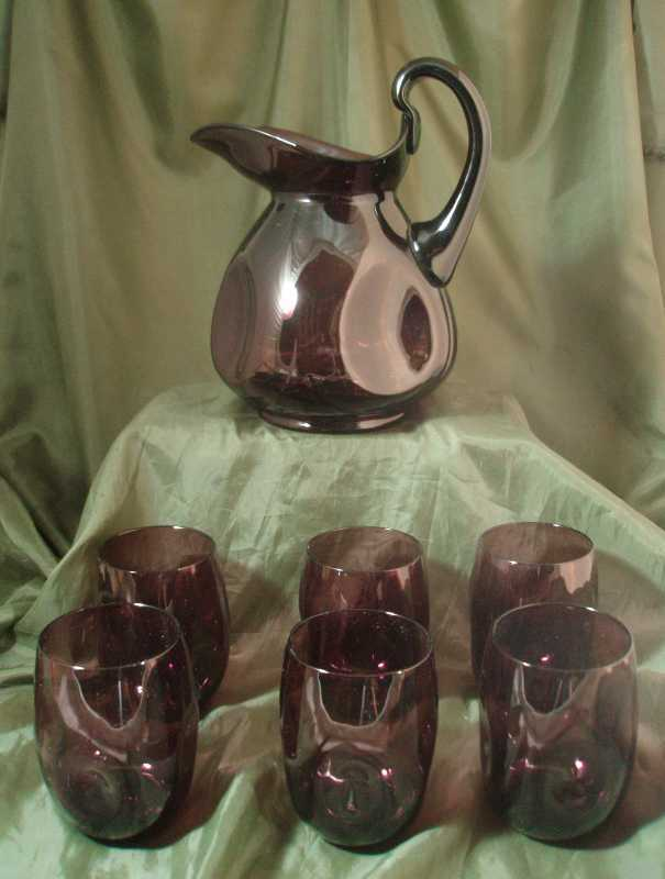 Cambridge Amethyst Pinch Pitcher & Tumbler Set