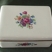 Lenox China Rectangular Box with Floral Decoration