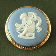 Wedgwood Jasper Ware Light Blue Brooch/Pendant