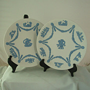 Wedgwood Reverse Jasper Ware Garland Plate