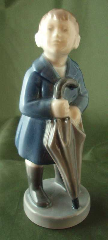 Royal Copenhagen &quot;April&quot; - Boy with Umbrella Figurine