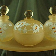 Westmoreland Yellow Mist with Daisies Vanity Set