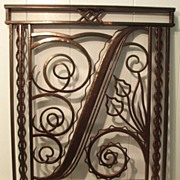 Uptown Theatre Art Deco Wrought Iron Railing