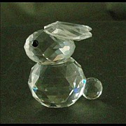 Swarovski Crystal Miniature Rabbit Figure