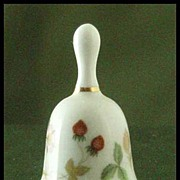 Wedgwood Wild Strawberry Miniature Bell