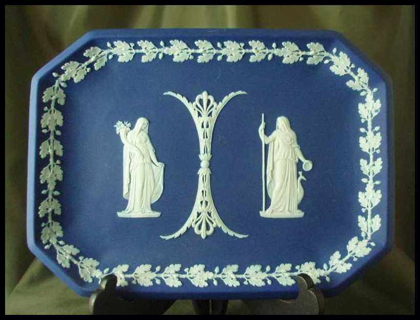 Wedgwood Cobalt Blue Jasper Ware Comb Tray