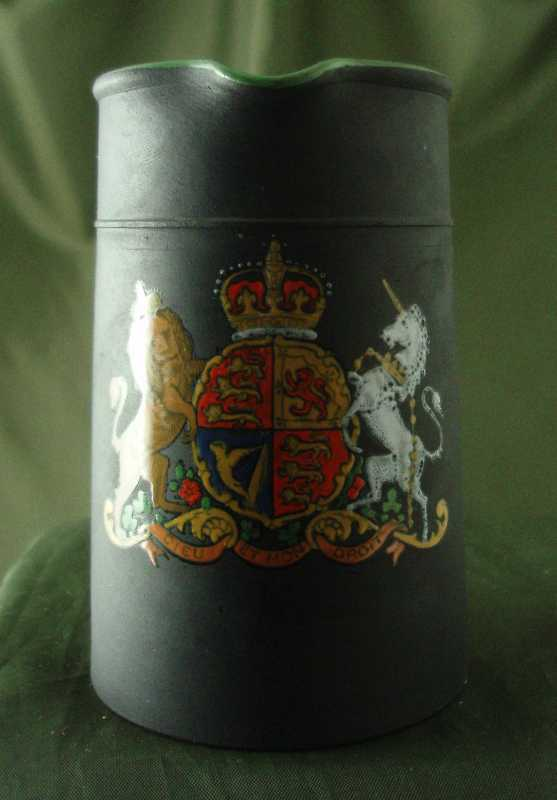 Wedgwood Basalt Upright Jug with Arms of the United Kingdom