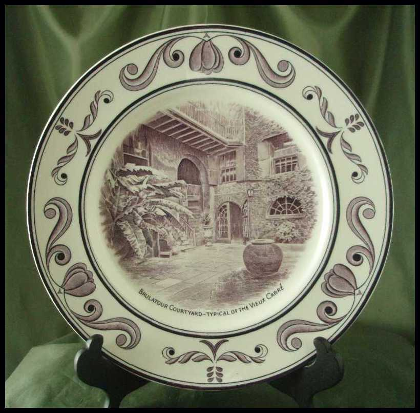 Crown Ducal Scenes of Old New Orleans Plate