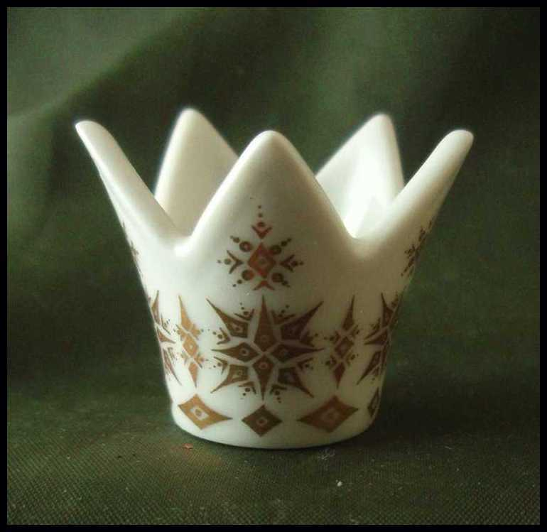 Rorstrand Miniature White & Gold Crown