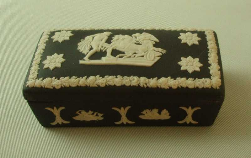 Wedgwood Black Jasper Ware Oblong Box