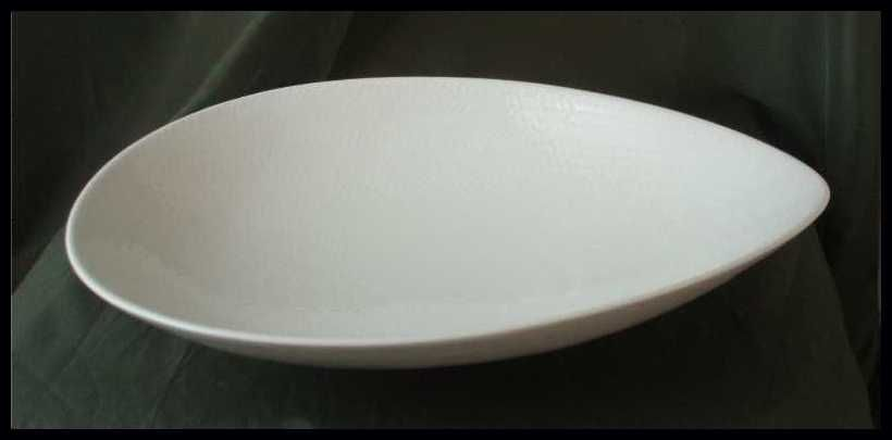 Rorstrand Blue Fire Medium White Oval Serving Bowl