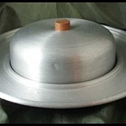 Russel Wright Spun Aluminum Cheese Server
