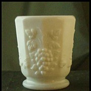 Westmoreland Milk Glass Paneled Grape Toothpick Holder