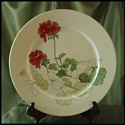 Block China Geranium Dinner Plates