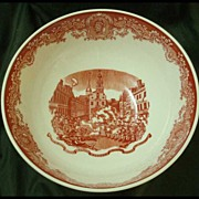 Wedgwood Queens Ware Large Red Boston Bowl