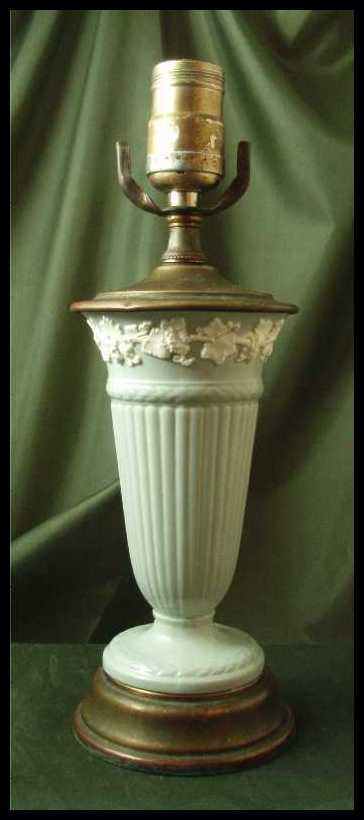 Wedgwood Gray & White Queens Ware Table Lamp