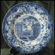 Wedgwood Queens Ware Harvard University Plate