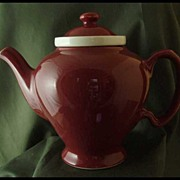 Hall China Maroon McCormick Teapot