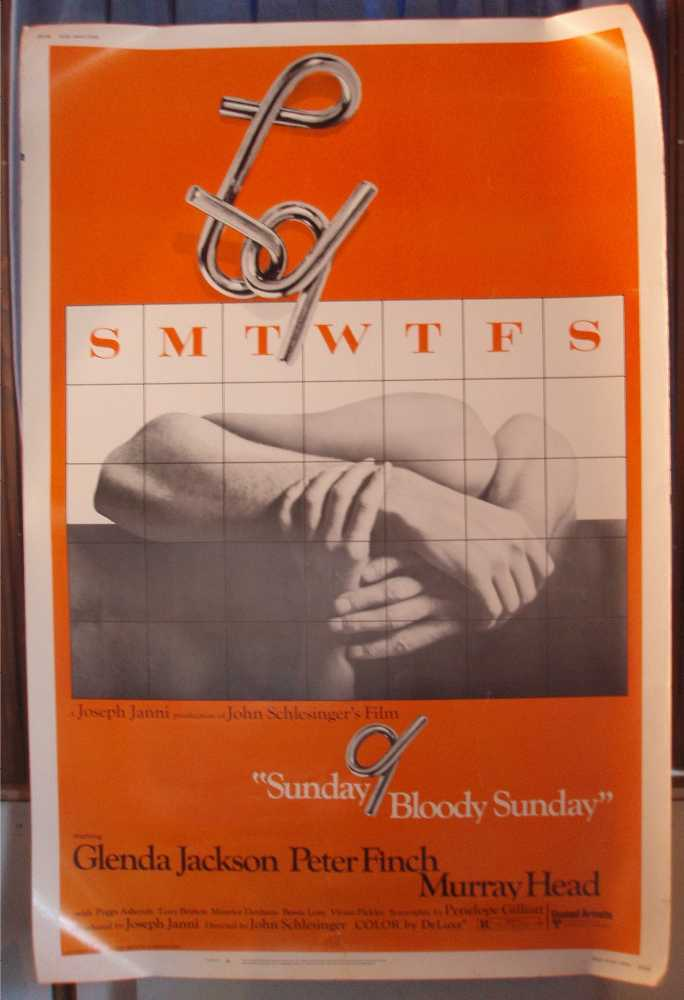 Sunday Blood Sunday Original 40X60 Theatrical Poster