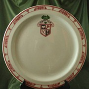 Sterling China Vesper Club Service Plate