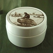 Royal Copenhagen Faience Little Mermaid Box
