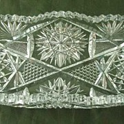 American Brilliant Period Cut Glass Relish