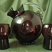 Cambridge Amethyst #3400/38 Ball Pitcher Set