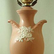 Davart Lenox China Pink & Cream Urn Form Lamp