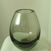 Holmegaard Smoke Glass Ovoid Vase by Per Lutken
