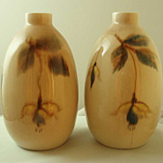 Vontury Floral Decorated Bottle Vases - Pair