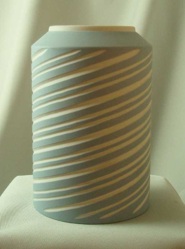 Wedgwood Light Blue & White Jasper Ware Symmetry Vase