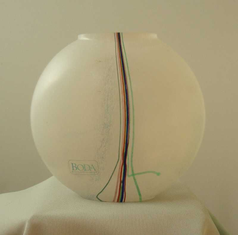 Boda Bertil Vallien Rainbow Pillow Vase