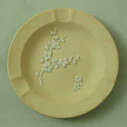 Wedgwood Primrose Yellow Jasper Ware Prunus Blossom Ashtray