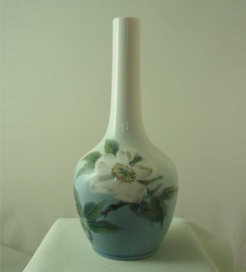 Royal Copenhagen Apple Blossom & Bee Bud Vase
